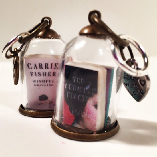 Carrie Fisher Inspired Book Charm