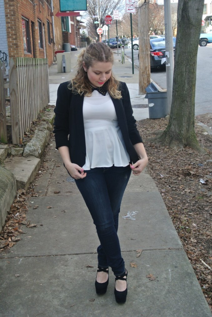 white peplum look