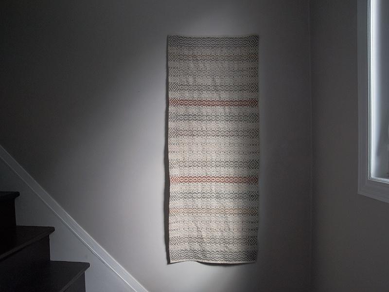 Handwoven table runner in heirloom wool