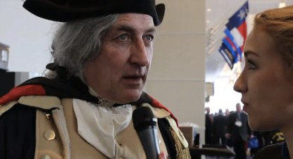 Julia Tourianski interviewing our George Washington reenacting friend James Manship about anarchy.