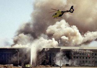 The Pentagon smolders on 9/11.