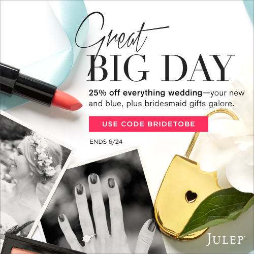 Julep Sale for Brides and Bridesmaids!
