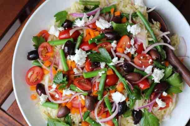 orzo pasta salad, Amanda's Plate summer salad
