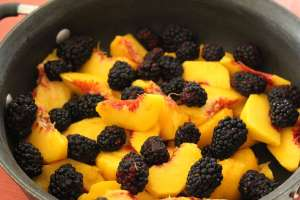 peach, peaches, blackberries