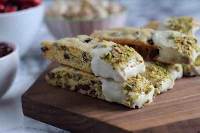 homemade pistachio biscotti
