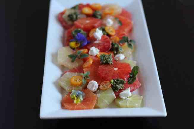 citrus salad, pesto recipe, simple pesto, simple citrus salad