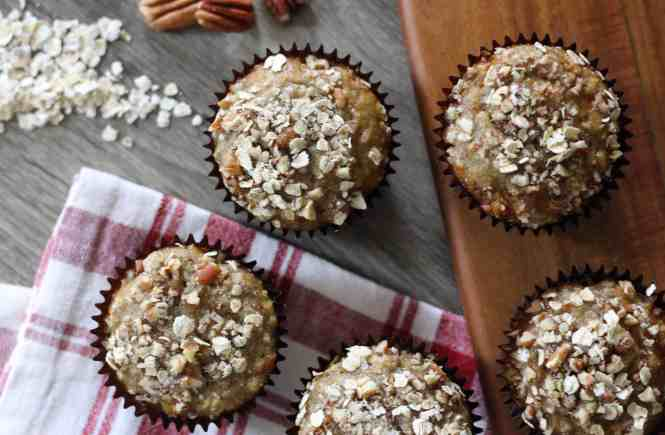 banana muffins, oat muffins