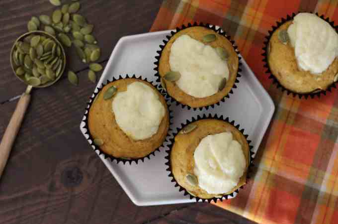 Pumpkin Cream Cheese Muffins-Starbucks Copycat