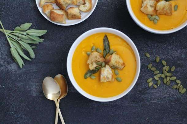 amandas plate butter nut squash soup