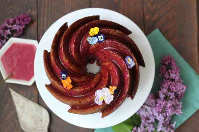 Hibiscus Glazed Bundt Cake