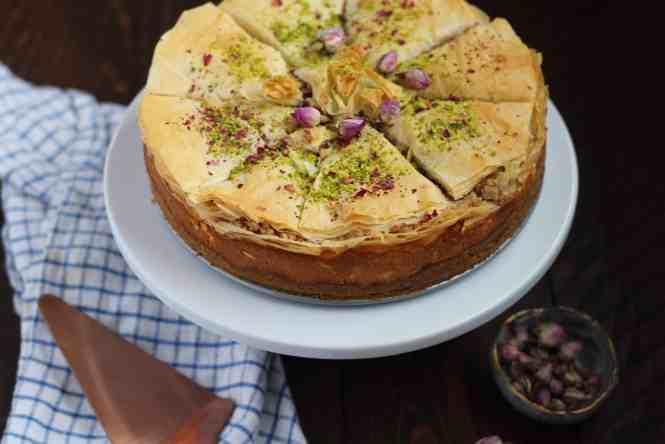 Amandas plate baklava cheesecake
