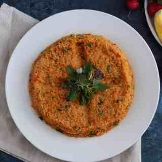 Amanda's plate lentil kibbeh