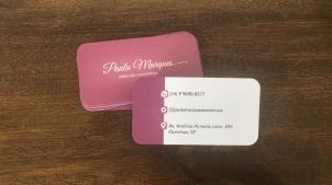 Cartão de visita - Paula Marques esteticista cosmetóloga