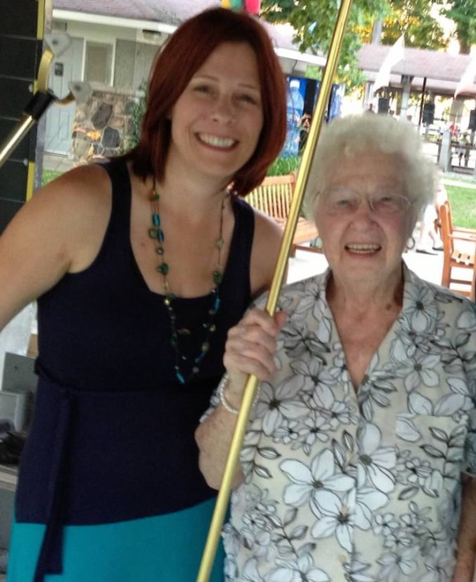 Grandma and I after a tough shuffleboard game. She is 90 in this picture.