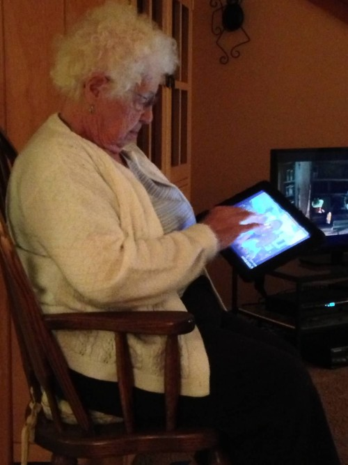 She loved her computer and traveled with her tablet.