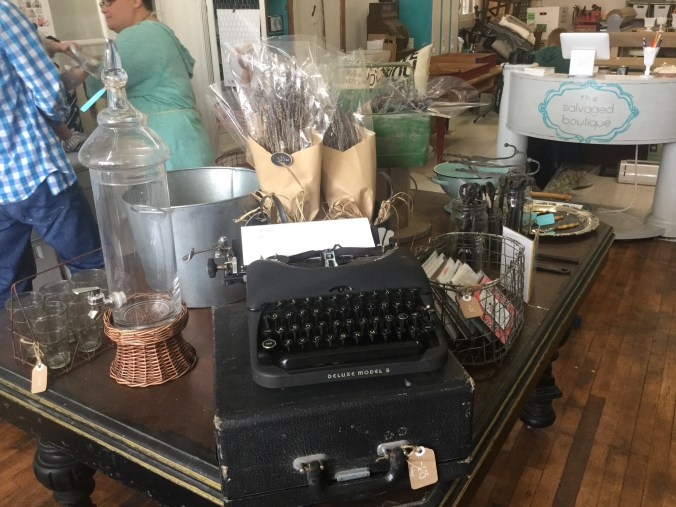 Check out the old-fashioned typewriter, just one of the many treasures visitors will find in the store.