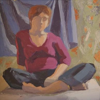 self-portrait, oil on canvas, 2010