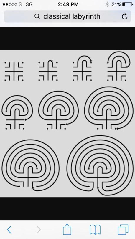 And how to draw a classic labyrinth.