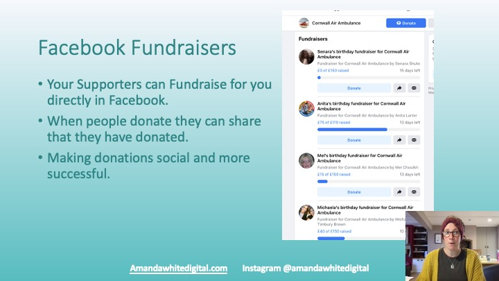 Facebook Fundraisers for Charity