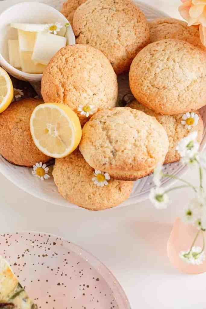 Scones with butter