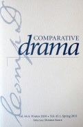 Comparative Drama special issue cover