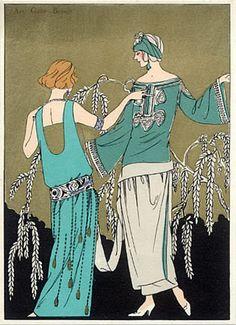 1923 - pochoir illustration of molyneux and poiret