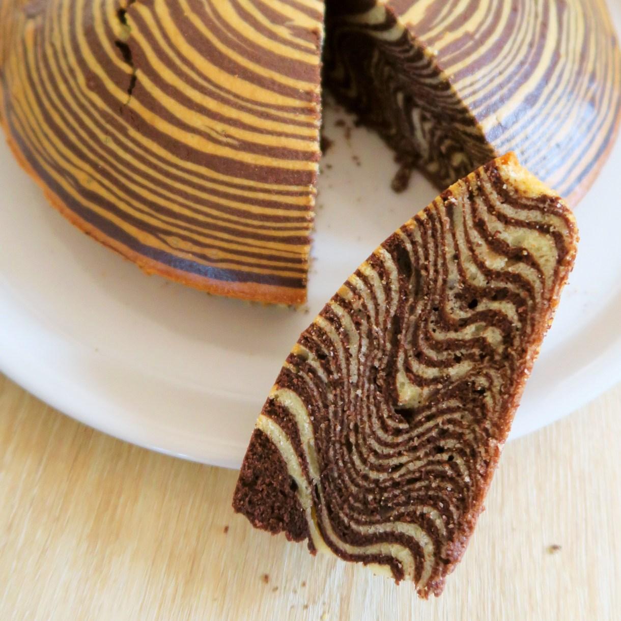 zebra cake marbré italien