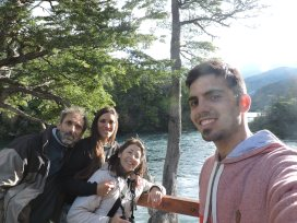 Caminata en familia