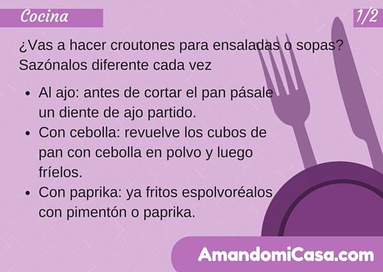 Croutones para sopas y ensaladas