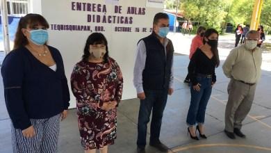 Photo of Entrega Secretario de Educación aulas didácticas en el CETIS 142 Tequisquiapan
