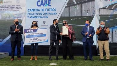 Photo of Inauguran canchas de futbol rápido de la Facultad de Contabilidad en la UAQ