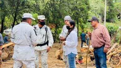 Photo of Selene Salazar recorrió las localidades afectadas por las fuertes lluvias en la zona serrana