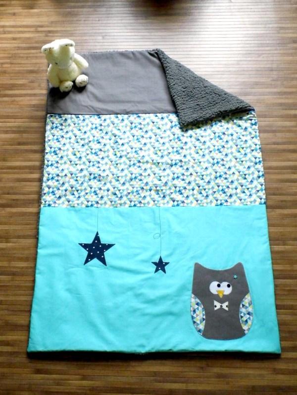 couverture-bebe-personnalisee-prenom-deco-chambre-bebe-gris-bleu-turquoise-theme-hibou-chouette-liste-naissance-unique-baby-blanket-grey-blue-owl