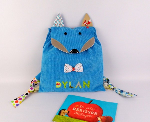 sac-a-dos-renard-brode-prenom-dylan-bleu-turquoise-ecole-maternelle-creche-fox-backpack-personalized-name