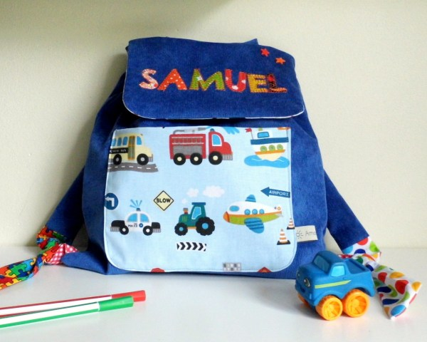 sac-a-dos-voiture-prenom-samuel-bleu-voiture-tracteur-cartable-personnalisable-prenom