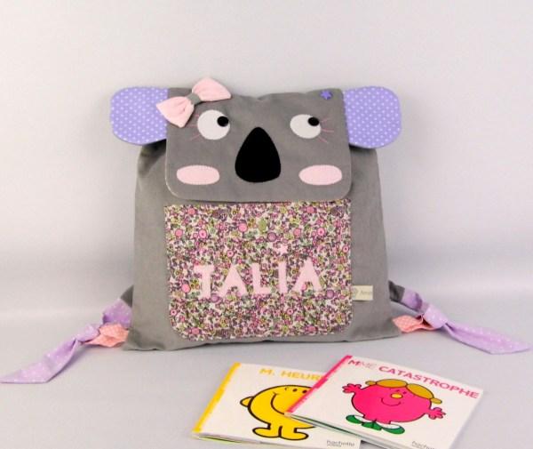 sac-koala-fille-personnalisable-prenom-talia-rose-mauve-gris