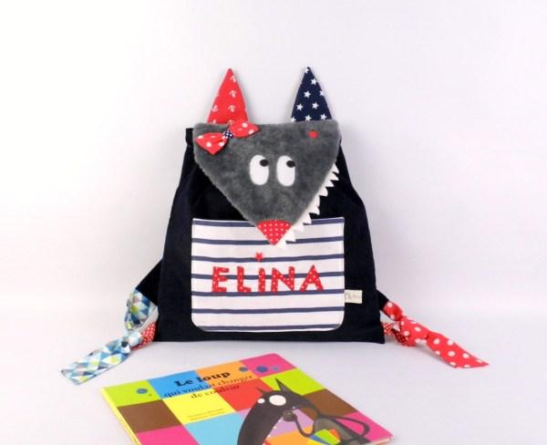 sac-maternelle-fille-loup-personnalisable-prenom-loula-jade-elina-sac-a-dos-enfant-brode-prenom-louise-preschool-backpack-wolf-toddler-bag
