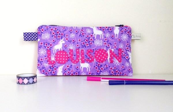 trousse-ecole-fille-personnalise-prenom-louison-rose-violet-trousse-licorne-pencilecase-personalized-name-unicorn