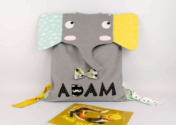 sac-a-dos-maternelle-personnalise-elephant-cartable-enfant-prenom-adam-girs-vert-menthe-jaune-moutarde