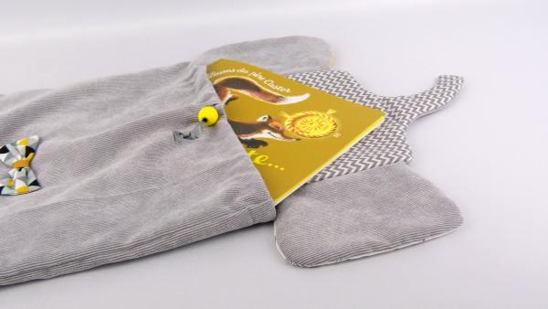 sac-a-dos-maternelle-elephant-personnalise-prenom-hugo-cartable-enfant-personnalisable-premiere-rentree-gris-jaune-moutarde-vert-menthe