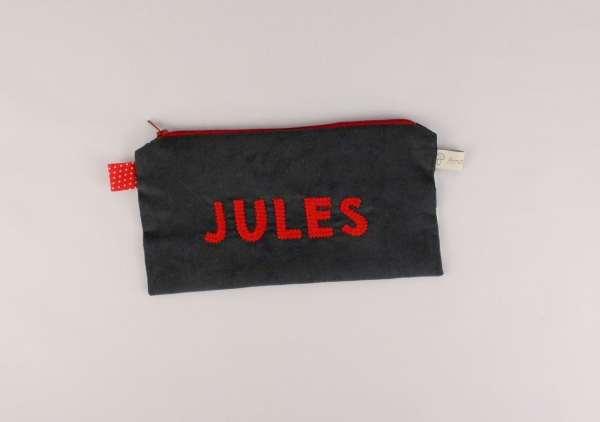 trousse-loup-personnalisee-prenom-jules-ecole-primaire-gris-rouge