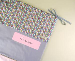 couverture-bebe-personnalisee-rose-poudre-mauve-gris-licorne-liberty-cadeau-naissance-original-unique