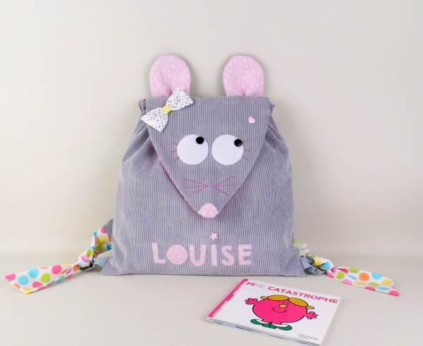 sac-a-dos-personnalise-fille-souris-prenom-louise-gris-rose-poudre-cadeau-naissance-bapteme-personnalisable