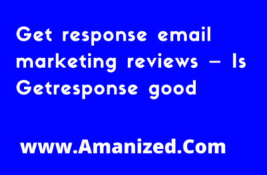 Get response email marketing reviews