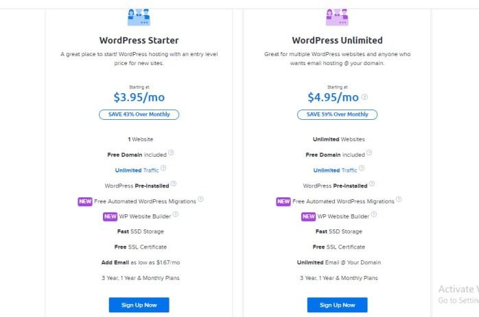 best hosting sites for startup