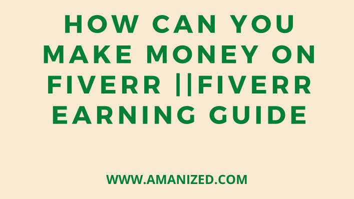 Making money on fiverr