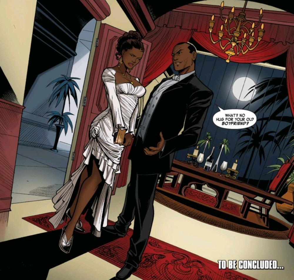 Misty Knight and her ex boyfriend the drug lord