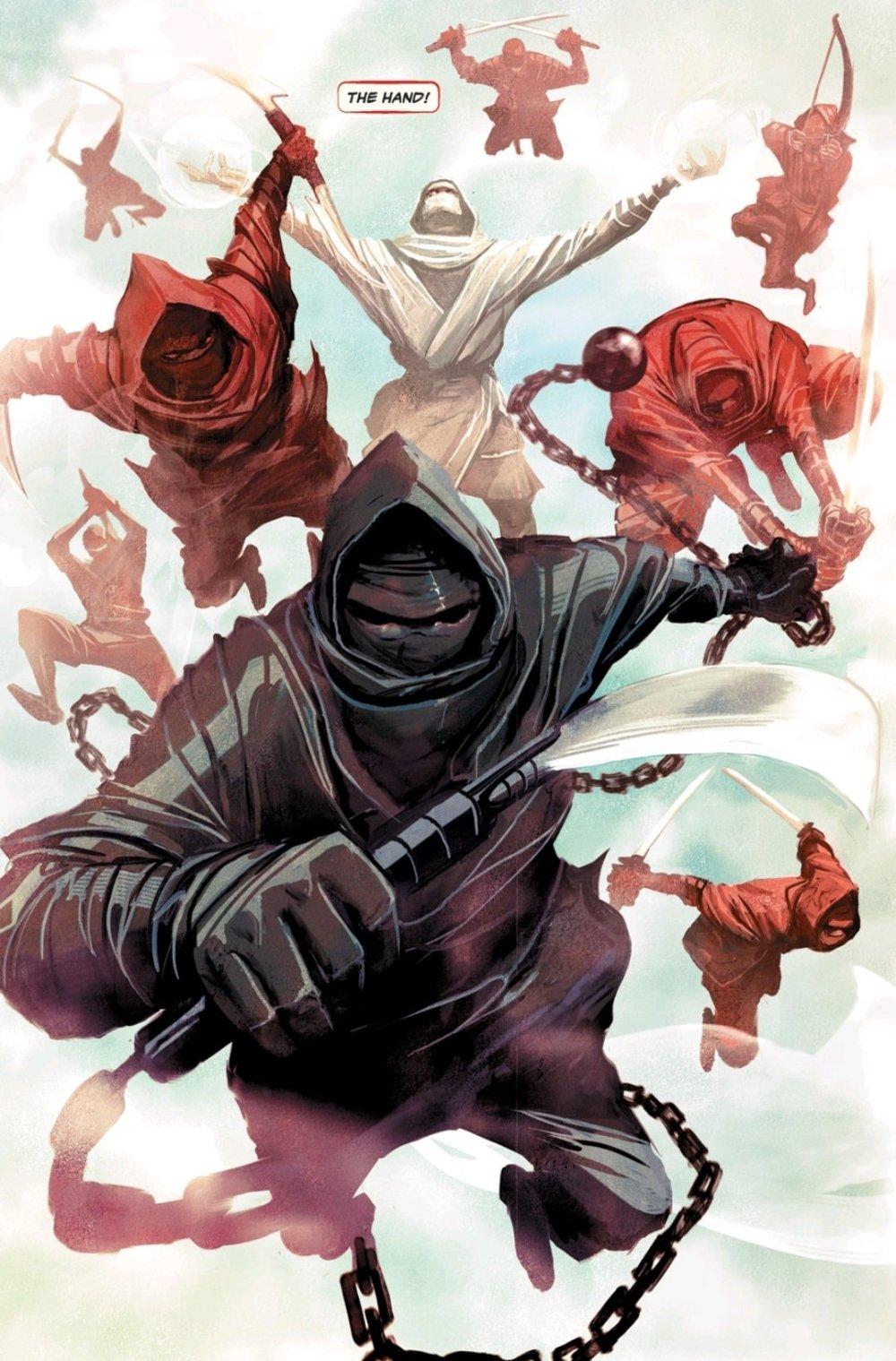 The Hand attacking Elektra