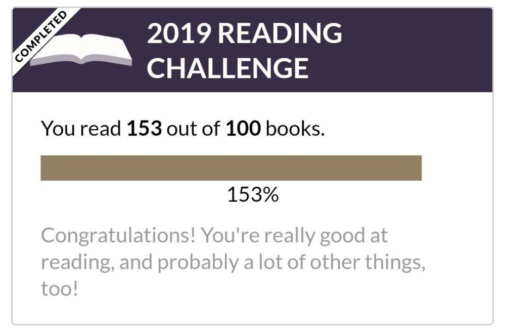 Amanja's 2019 Reading challenge, 153/100