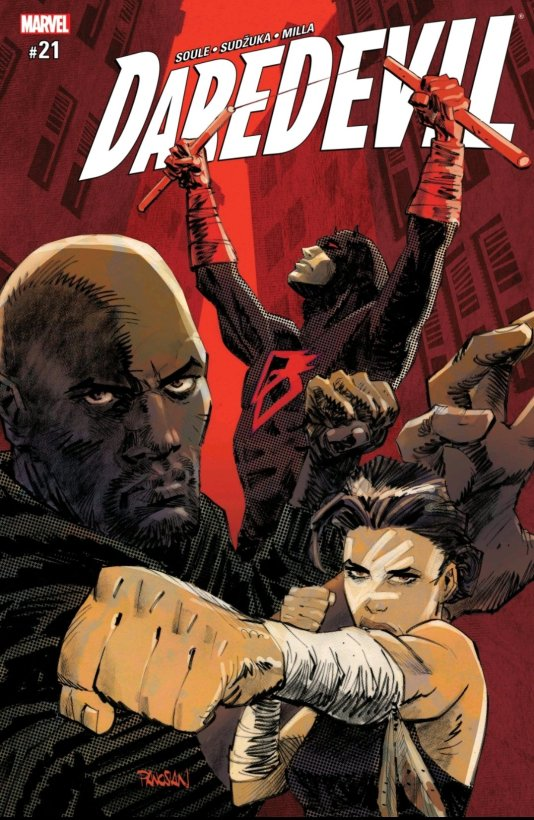daredevil cover with luke cage and echo